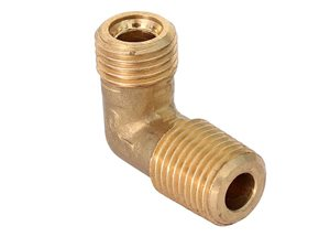 "1/4"" M Taper Stud Elbow 1/4"" Pipe"