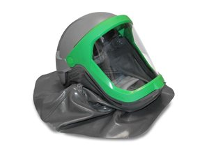 Thermal spray helmet with cape and clear visor