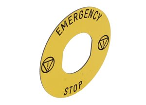 Emergency Stop Escutcheon Plate