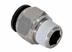 "Push-In Coupler 3/8"" BSP x 1/2"" Pipe"
