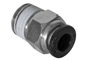 "Push In Male Straight Connector 1/4""BSP x 1/4"" pipe"