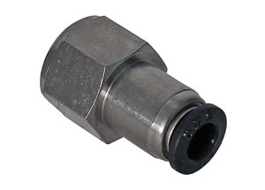 "Push In Female Straight Connector 1/4""BSP x 1/4"" pipe"