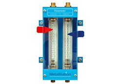 "Flowmeter for 3/8"" hose system for longer supplies packages"