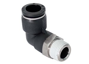 "Push-In Elbow 3/8"" BSP x 1/2"" Pipe"